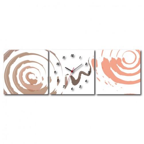 三聯式 方型 粉色 情人節 無框畫 掛畫 送禮 -愛的漩渦30x30cm