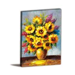 單聯式 直幅 花卉 黃色 盆栽 家居裝飾-今日好心情-30x40cm