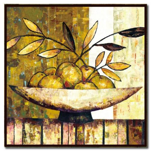 單聯 方形 水果 無框畫 掛畫 家具裝潢 民宿 餐廳 主臥室 家居裝飾 圖書館-水果意象-30x30cm