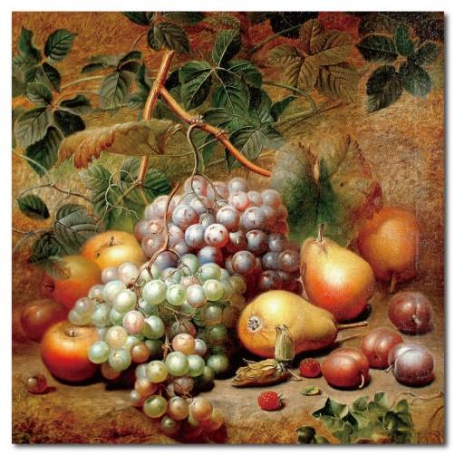 單張 方形 水果 油畫 無框畫 客製掛畫 橙品油畫布 餐廳佈置 廚房 圖書館 裝飾品-飽滿-30x30cm