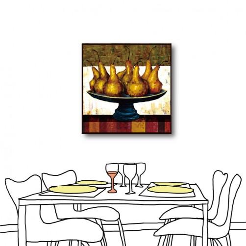 單張 方形 水果 民宿餐廳擺設 家居裝飾 圖書館 流行家飾 美學365 寢室傢俱-金果-30x30cm