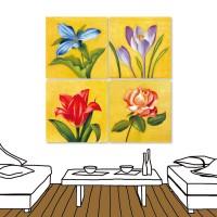 24mama 四聯式時尚無框畫 居家裝潢 30X30cm-花卉