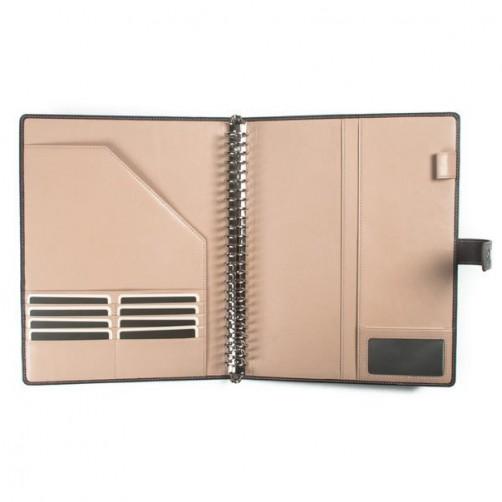 B5 26孔撞色筆記本皮套 免費燙印 客製訂作 經理夾 手帳 手札 記事本 書套 信用卡夾 手工皮件量身訂作 手工皮革筆記本