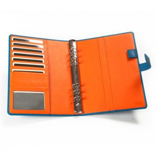 A5:6孔 萬用手工筆記本 經理夾 手工皮件量身訂作 手工皮革筆記本 客製訂作 信用卡夾 手帳 手札 記事本 書套 免費燙印