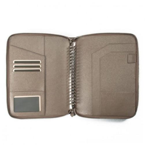 A5 20孔 拉鍊 筆記本皮套 經理夾 客製訂作 信用卡夾 手工皮件量身訂作 手工皮革筆記本 手帳 手札 記事本 書套 免費燙印