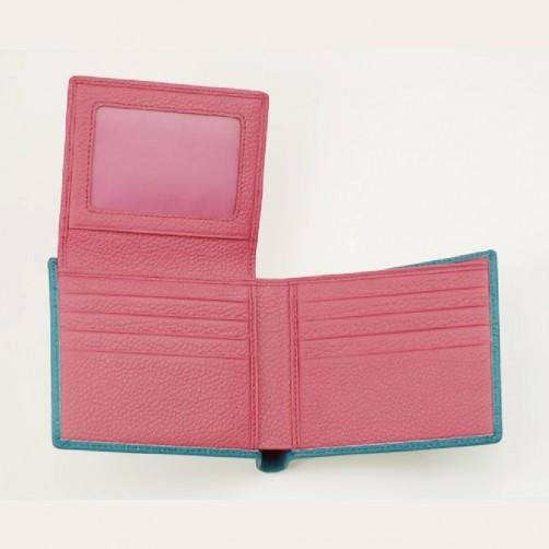女用短夾 多卡層 信用卡夾 鈔票夾 證件夾 名片夾 精品皮件 免費燙印 客製化手工皮件 牛皮訂製 小牛皮