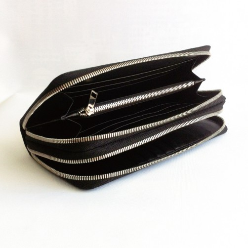 拉鍊式女用長夾 女包 鈔票夾 信用卡夾 手工皮件 免費燙印 精品女包 精品皮件