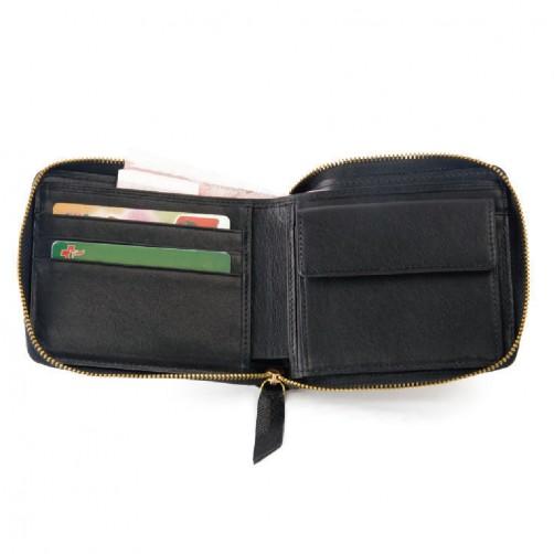 拉鍊式短夾 客製化手工皮件 多卡層 信用卡夾 鈔票夾 證件夾 名片夾 零錢袋 精品皮件 免費彩色燙印