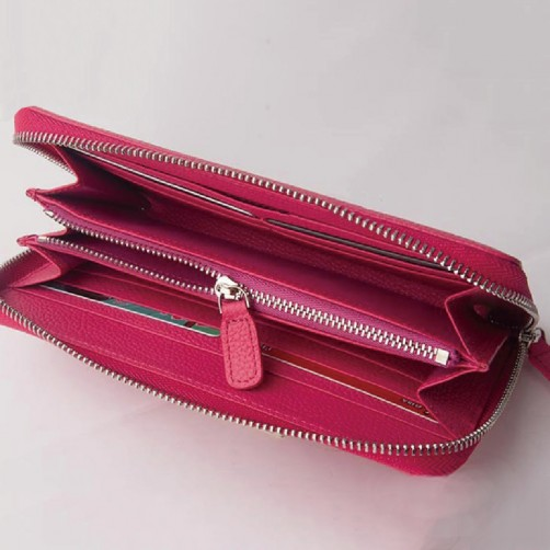 真皮拉鍊長夾 手拿包 免費燙印 客製化訂做 女用 防刮 耐髒 經典款 手工真皮 精品皮件 精品女包