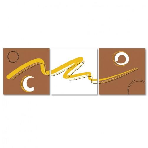 24mama 三聯式時尚無框畫 簡約風 30X30cm-抽象普普藝術