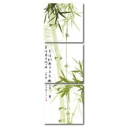 【123點點貼】壁貼 竹子壁貼 喜氣壁貼 三聯式 30x30cm-竹子