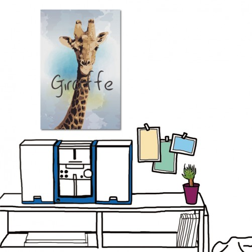 24mama 動物無框畫 大型掛畫 單聯式 直幅-長頸鹿-40x60cm