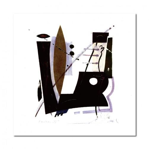 單張 方形 抽象 民宿餐廳擺設 家居裝飾 圖書館 流行家飾 美學365 寢室傢俱-思緒-30x30cm