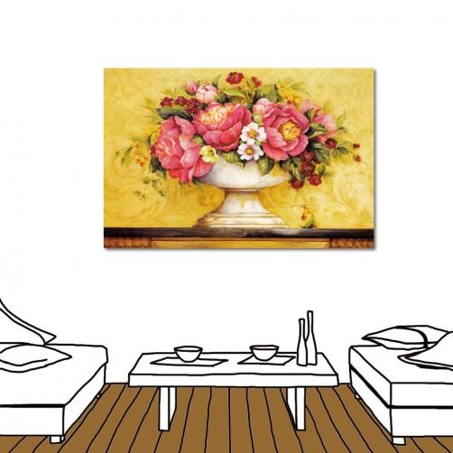 24mama 藝術無框畫 無框畫 居家掛畫 大型掛畫 花卉掛畫 流行家飾 單聯式 橫幅-花開-60x40cm