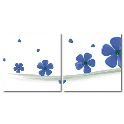 二聯式 方型 無框畫 掛鐘 壁鐘 幸運草 花店 花卉 客廳 民宿 餐廳 飯店 壁鐘-好運連連30x30cm