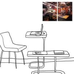二聯式 直式 車輛 機械 寫實 咖啡廳 民宿 餐廳 家居裝飾 壁畫 -修車廠30x40cm