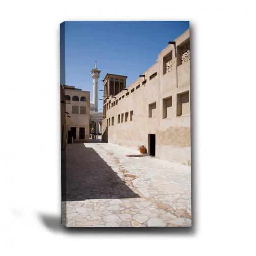 單張 直幅 歐式風格 民宿 餐廳 家居裝飾 無框畫 掛畫 掛鐘-街道-40x60cm