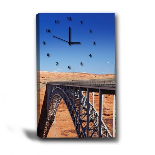 單張 直幅 橋 無框畫 掛畫 掛鐘 歐式風格 民宿 餐廳 家居裝飾-往來各地-40x60cm