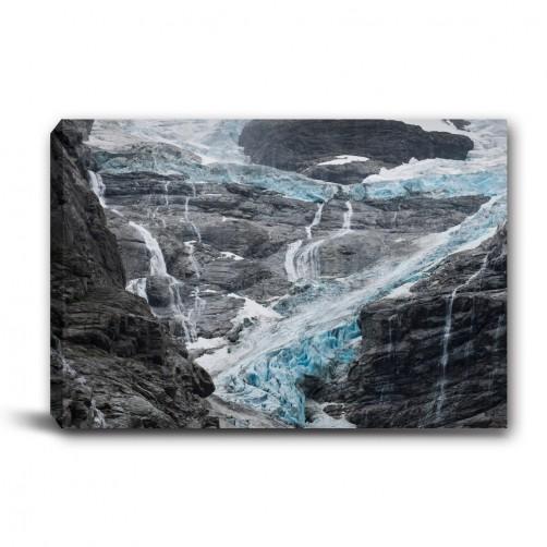 單張 橫幅 高山 冬季 岩石 河流 無框畫 掛畫 掛鐘 民宿 餐廳 家居裝飾-冰山-60x40cm