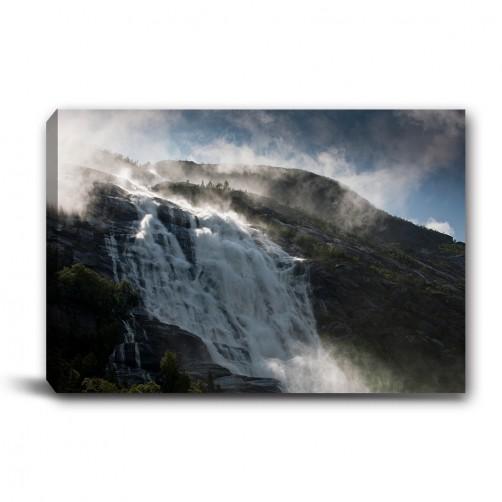 單張 橫幅 風景 高山 風水 冬季 無框畫 掛畫 掛鐘 民宿 餐廳 家居裝飾-高山雪-60x40cm