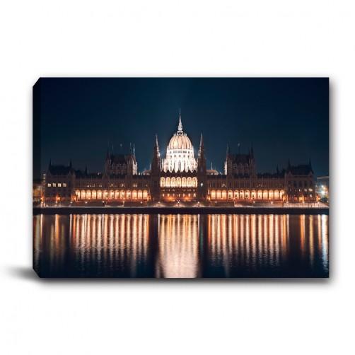 單聯 橫幅 夜景 建築 都市 輕改造 無框畫 掛畫 掛鐘 民宿 餐廳 家居裝飾 辦公室-照亮夜晚-60x40cm