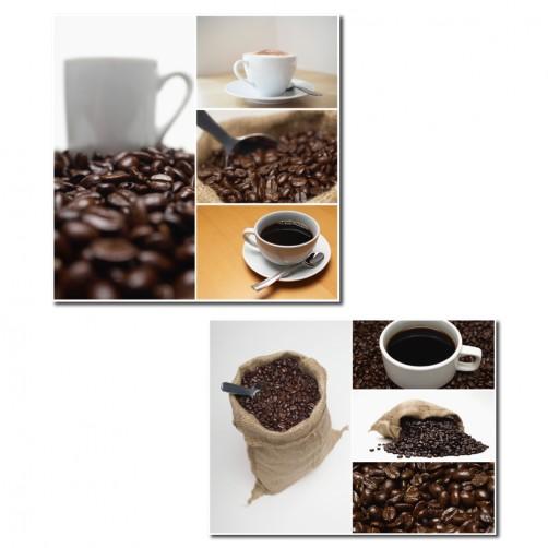 二聯式 方型直幅 美學365 職業 餐廳佈置 咖啡廳裝潢 民宿飯店佈置 無框畫 客製掛畫 -咖啡-30x30 30x40cm