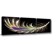 【123點點貼】普普風壁貼 無框畫壁貼 三聯式 30x30cm-天使的羽毛