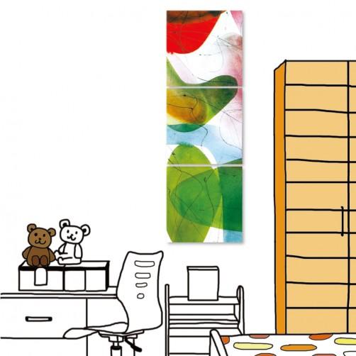 24mama 三聯式時尚無框畫 居家裝潢 30X30cm-抽象系列1