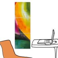 【123點點貼】無框畫壁貼 民宿裝潢 三聯式 30x30cm-抽象系列2