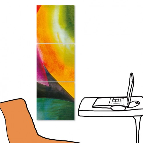 24mama 三聯式時尚無框畫 居家裝潢 30X30cm-抽象系列2