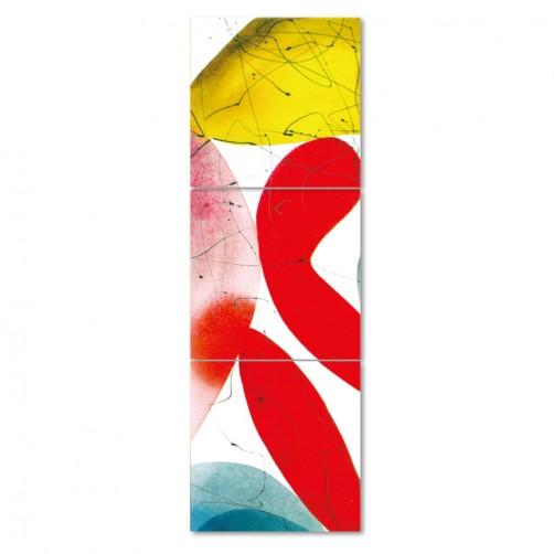 【123點點貼】無框畫壁貼 民宿裝潢 三聯式 30x30cm-抽象系列3