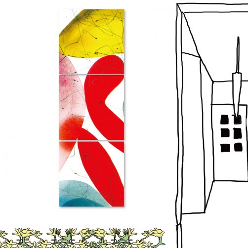24mama 三聯式時尚無框畫 居家裝潢 30X30cm-抽象系列3