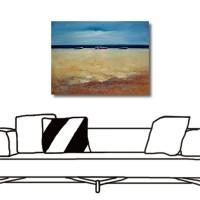 【123點點貼】24mama 壁貼 牆貼 藝術壁貼 家居飾品 單聯式 橫幅 40x30cm-寂靜海灘