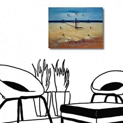 24mama 無框畫 風景掛畫 家居掛畫 單聯式 橫幅 40x30cm-寂靜海灘