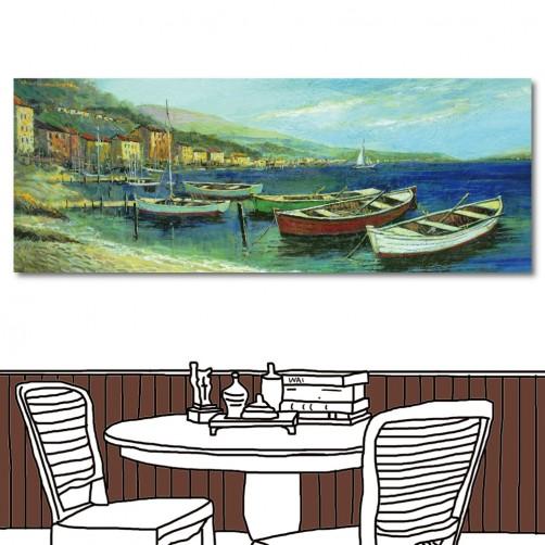 【123點點貼】24mama 無框畫壁貼 飯店民宿裝飾 餐廳裝潢 單聯式 80x30cm-收帆