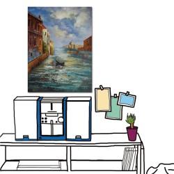 【123點點貼】24mama 壁貼 牆貼 藝術壁貼 便宜掛畫 家居飾品 家具家飾 單聯式 直幅 30x40cm-水城市